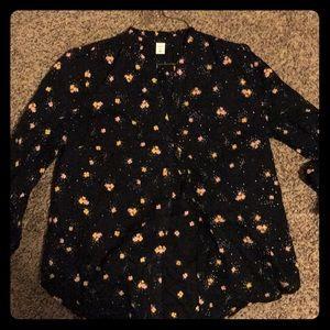Size medium, Old Navy button up dress shirt